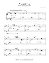 Sheet music for A Silent Tear