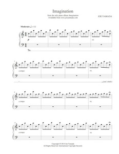 Sheet music for Imagination