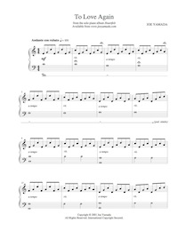 Sheet music for To Love Again